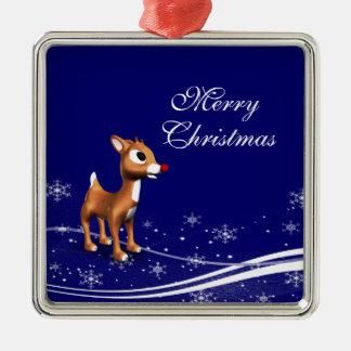 Cartoon Reindeer Christmas Christmas Tree Ornament