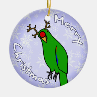 Cartoon Reindeer Eclectus Christmas Ornament