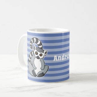 Cartoon Ringtailed Lemur Coffee Mug