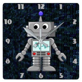 cartoon robot clock