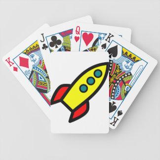 Cartoon Rocket Bicycle Card Deck