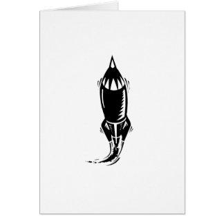 Cartoon Rocket Greeting Cards
