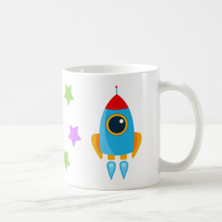 Cartoon Rocket Coffee Mug