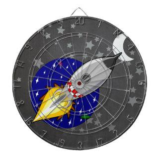 Cartoon Rocket Dartboard