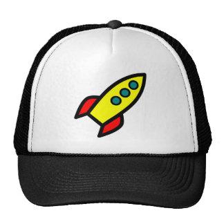 Cartoon Rocket Mesh Hats