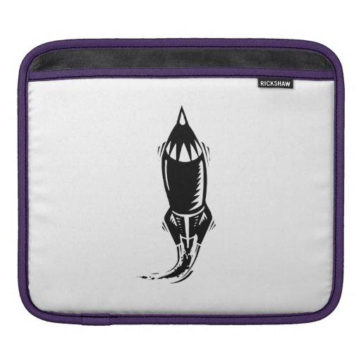 Cartoon Rocket Sleeves For iPads