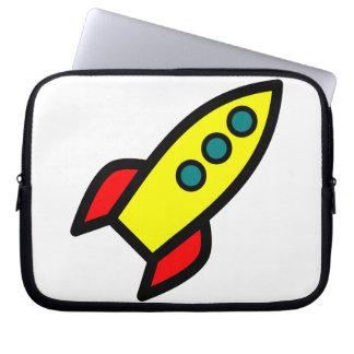 Cartoon Rocket Computer Sleeves
