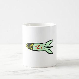 Cartoon Rocket Mug