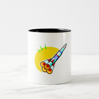 Cartoon Rocket Mugs
