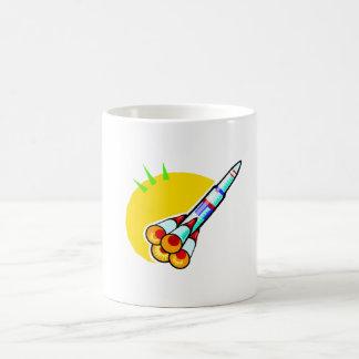 Cartoon Rocket Coffee Mugs