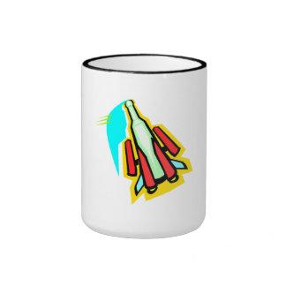 Cartoon Rocket Coffee Mug