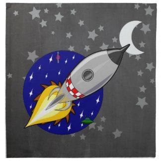 Cartoon Rocket Napkin