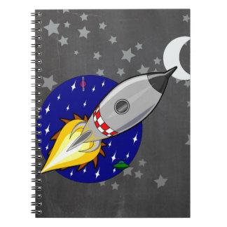 Cartoon Rocket Note Book