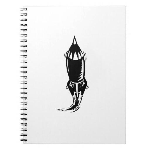 Cartoon Rocket Notebook