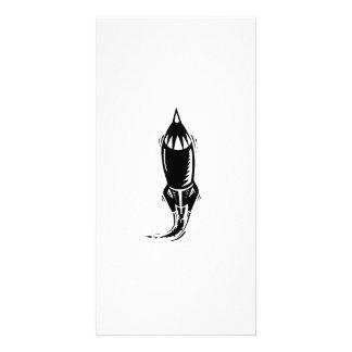 Cartoon Rocket Personalized Photo Card