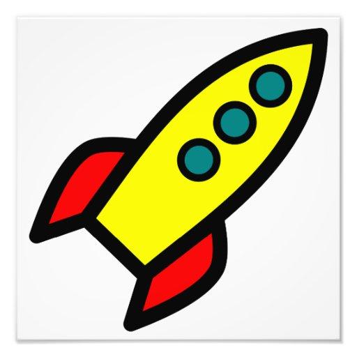Cartoon Rocket Photograph