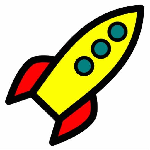 Cartoon Rocket Acrylic Cut Outs