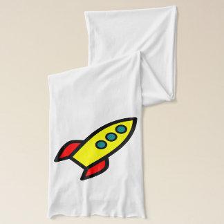 Cartoon Rocket Scarf