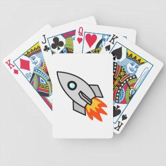 Cartoon Rocket Ship Bicycle Poker Cards