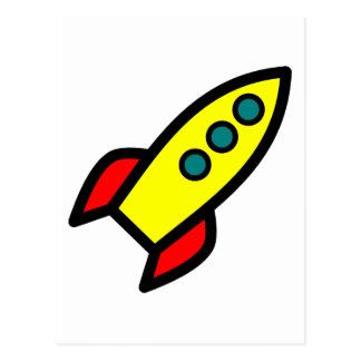 Cartoon Rocket Ship Postcards