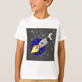 Cartoon Rocket Tee Shirt