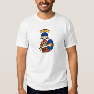 Cartoon Roman Centurion Soldier Tee Shirts