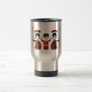 Cartoon Roman Emperor and Soldiers Coffee Mugs