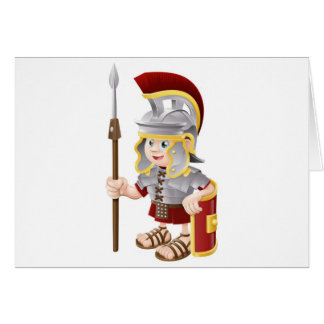 Cartoon Roman Soldier Greeting Cards