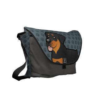 Cartoon Rottweiler Commuter Bags