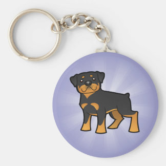 Cartoon Rottweiler Key Ring