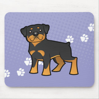 Cartoon Rottweiler Mouse Mat