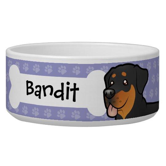 Cartoon Rottweiler Pet Bowls