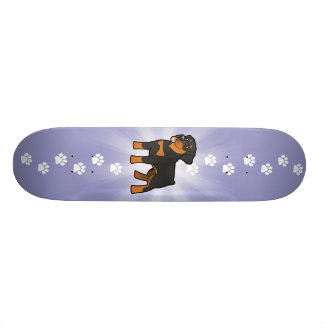 Cartoon Rottweiler Skate Board Decks