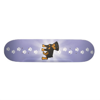 Cartoon Rottweiler Skate Deck