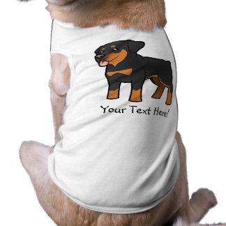 Cartoon Rottweiler Sleeveless Dog Shirt