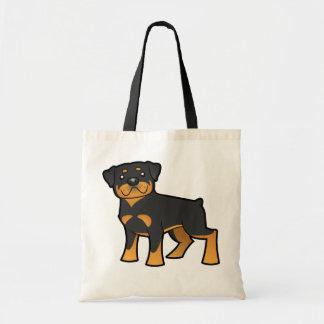 Cartoon Rottweiler Tote Bag