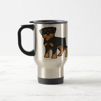 Cartoon Rottweiler Travel Mug
