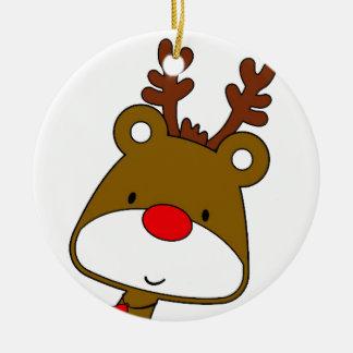 CARTOON RUDOLF CHRISTMAS THEME CHRISTMAS ORNAMENT
