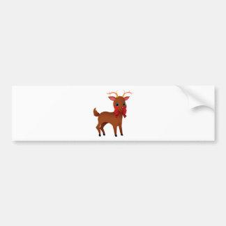 Cartoon Rudolph the Red-Nosed Reindeer w/ Bow Tie Bumper Sticker