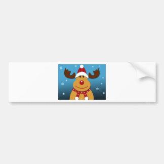 Cartoon Rudolph The Reindeer Christmas Gifts Bumper Sticker