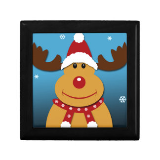 Cartoon Rudolph The Reindeer Christmas Gifts Gift Box