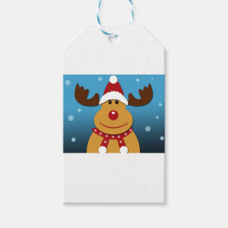 Cartoon Rudolph The Reindeer Christmas Gifts Gift Tags