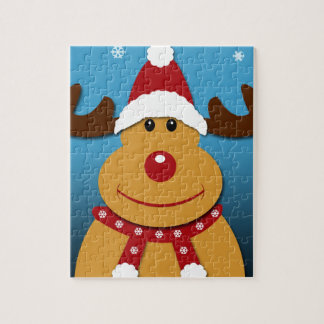 Cartoon Rudolph The Reindeer Christmas Gifts Jigsaw Puzzle