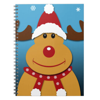 Cartoon Rudolph The Reindeer Christmas Gifts Spiral Notebook