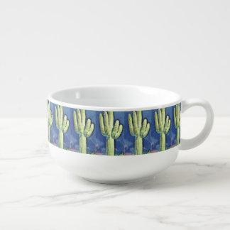 Cartoon Saguaro Cactus Soup Mug