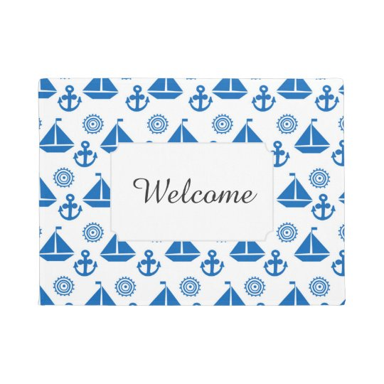 Cartoon Sail Boat Pattern | Add Your Text