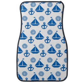 Cartoon Sail Boat Pattern Car Mat