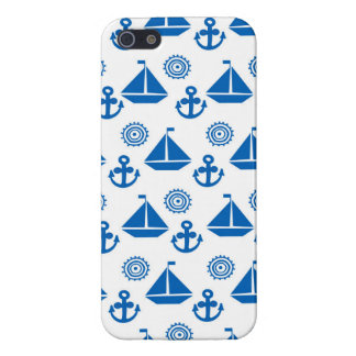 Cartoon Sail Boat Pattern Cover For iPhone 5/5S