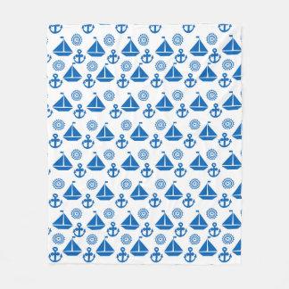 Cartoon Sail Boat Pattern Fleece Blanket