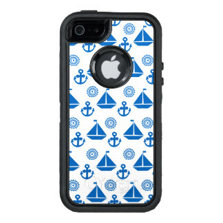 Cartoon Sail Boat Pattern OtterBox Defender iPhone Case